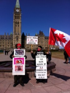 """""""Free Mark Warawa Rally"""" and """"Gendercidse Protest"""""""