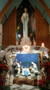 This is Nativity Scene at 'Notre Dame de la Paix Catholic Church in Timmins, Ontario. 2016.